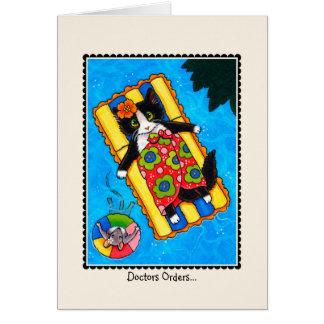"""Cartão Dos """"cartão do CAT & do rato da recuperação rápida"""