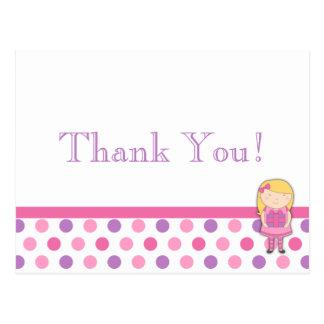 Cartão dos cartões de agradecimentos das bolinhas