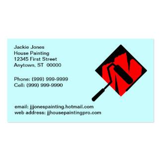 Cartão dos cartões de visitas dos pintores da