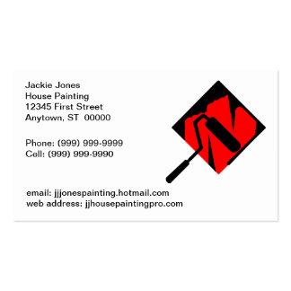 Cartão dos cartões de visitas dos pintores da pint