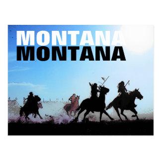 Cartão dos cavalos de Montana