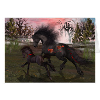 Cartão dos cavalos do Natal, envelopes incluídos