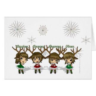 Cartão dos cervos de Chibi