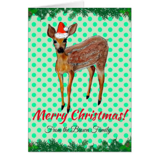 Cartão dos cervos do Natal