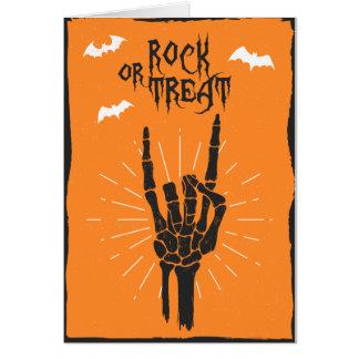 Cartão dos chifres do Dia das Bruxas