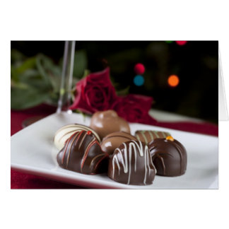 Cartão dos chocolates do Natal do gourmet