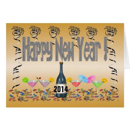 Cartão dos cocktail de ano novo