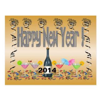 Cartão dos cocktail de ano novo cartoes postais