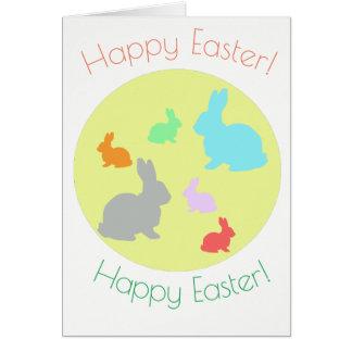 Cartão dos coelhos de felz pascoa