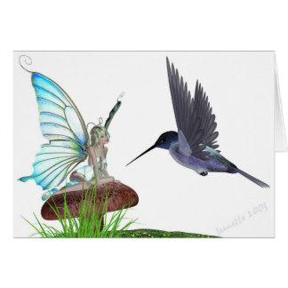 Cartão dos colibris