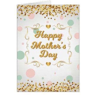 Cartão dos confetes do dia das mães