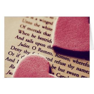 Cartão dos corações de Romeo oh romeo