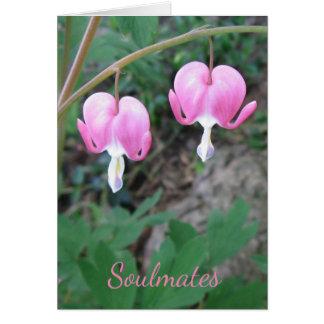 Cartão dos corações de sangramento dos Soulmates