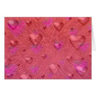 Cartão dos corações dos namorados