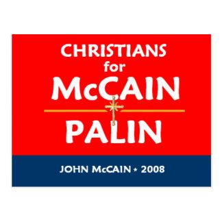 Cartão dos cristãos de McCain Palin