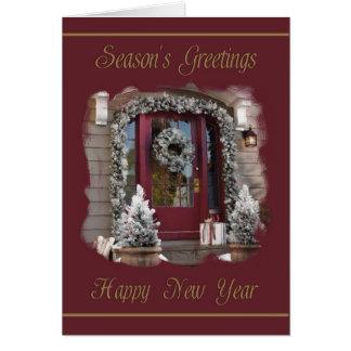 Cartão dos cumprimentos & do feliz ano novo da
