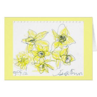 Cartão dos Daffodils