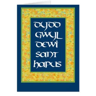 Cartão dos Daffodils do dia de St David (Galês)