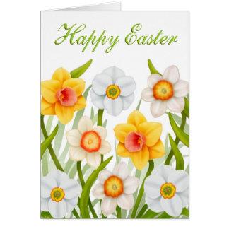 Cartão dos Daffodils do felz pascoa