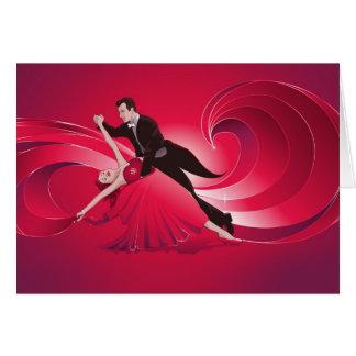 Cartão dos dançarinos do salão de baile - cartão