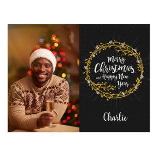 Cartão dos desejos do SEU Natal da FOTO & do NOME