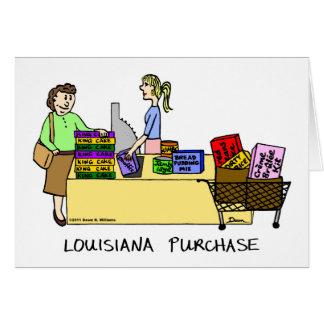 Cartão dos desenhos animados da compra de Louisian