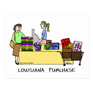 Cartão dos desenhos animados da compra de Louisian Cartão Postal