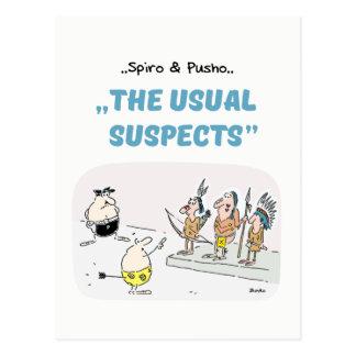 Cartão dos desenhos animados das citações do crime