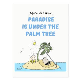Cartão dos desenhos animados das citações do mar