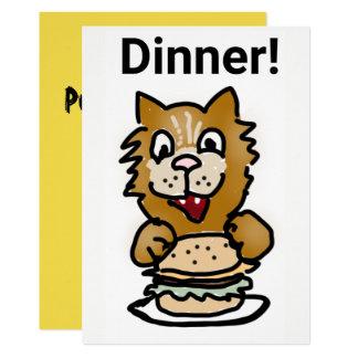 Cartão dos desenhos animados do convite do