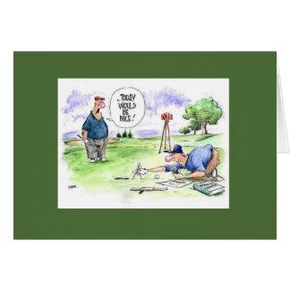 Cartão dos desenhos animados do golfe: Hoje seria