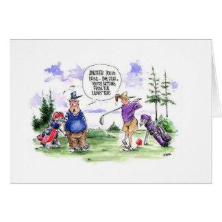 Cartão dos desenhos animados do golfe: T das