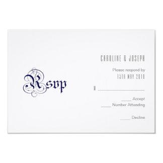 """Cartão Dos """"design do RSVP AZUIS MARINHOS"""