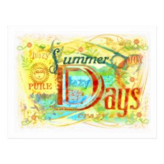 Cartão dos dias de verão