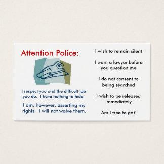 Cartão dos direitos