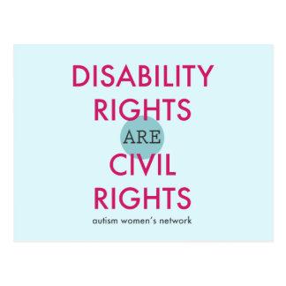 Cartão dos direitos de inabilidade