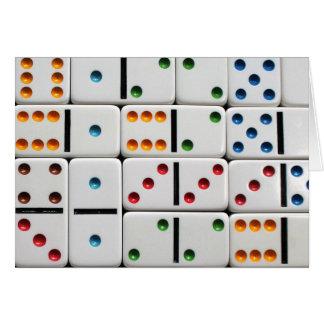 Cartão dos dominós