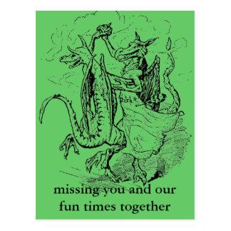 Cartão dos dragões da dança