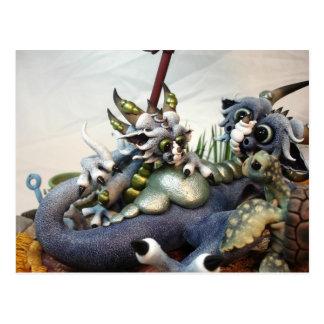 Cartão dos dragões da praia da DM (close up)