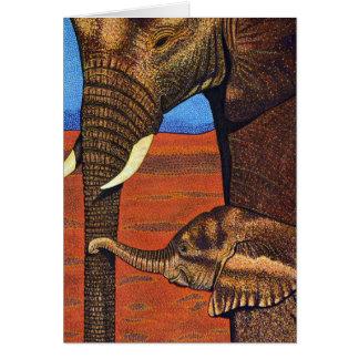 Cartão dos elefantes africanos