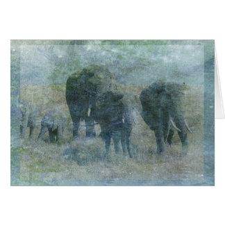 Cartão dos elefantes do giz