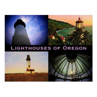 Cartão dos faróis de Oregon