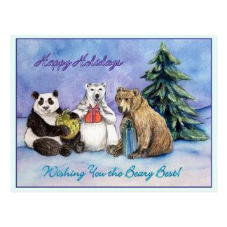 Cartão dos feriados de Beary