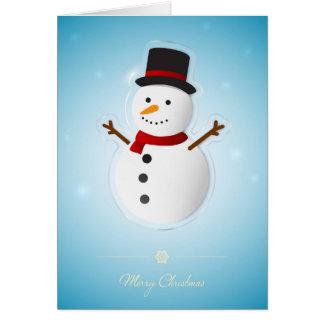 Cartão dos feriados do boneco de neve