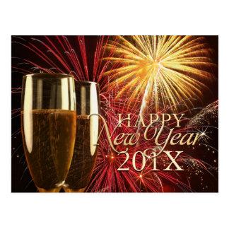 Cartão dos fogos-de-artifício do feliz ano novo 20 cartão postal