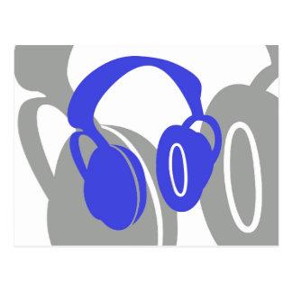 Cartão dos fones de ouvido