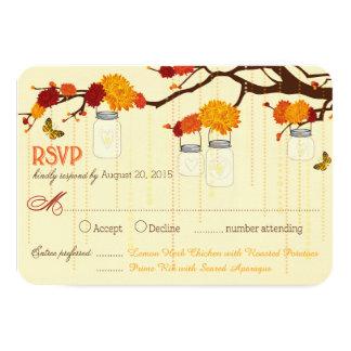 Cartão dos frascos RSVP dos ramos da borboleta das Convite 8.89 X 12.7cm