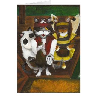 Cartão dos gatinhos da doçura ou travessura