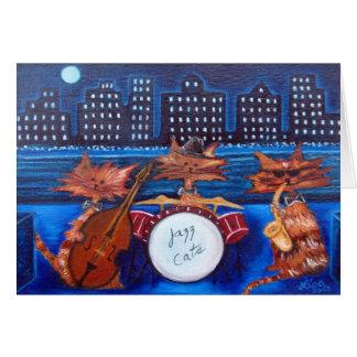 Cartão dos gatos do jazz