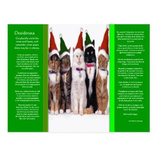 Cartão dos gatos do Natal dos DESIDERATA